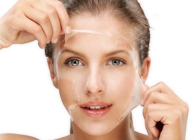 peeling traiter imperfections peau